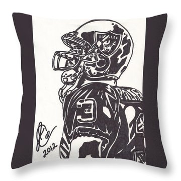 Throw Pillow featuring the drawing Carson Palmer 1 by Jeremiah Colley