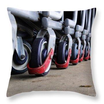 Cart Wheels Throw Pillow
