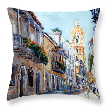 Cartagena Colombia Throw Pillow