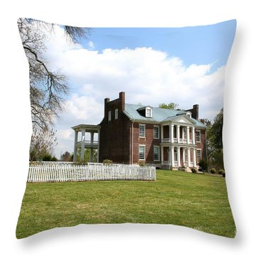Carter House And Carnton Plantation Throw Pillow