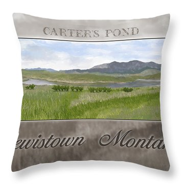 Throw Pillow featuring the digital art Carter's Pond by Susan Kinney