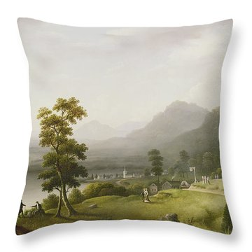 Carter's Tavern At The Head Of Lake George Throw Pillow