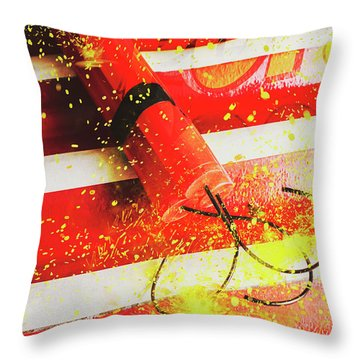 Cartoon Bomb Throw Pillow