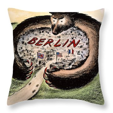 Cartoon: Cold War Berlin Throw Pillow by Granger