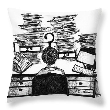Cartoon I Dare You Throw Pillow