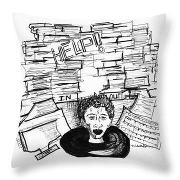 Cartoon Inbox Throw Pillow