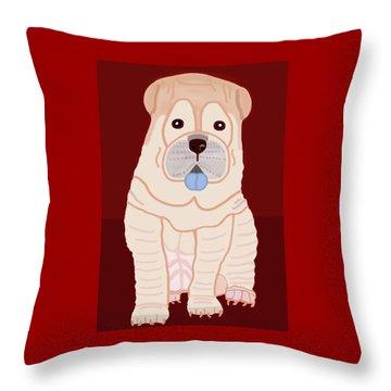 Cartoon Shar Pei Throw Pillow