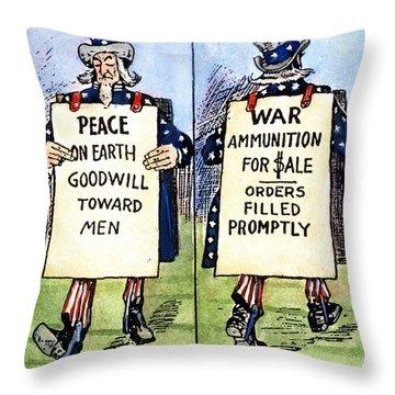 Cartoon: U.s. Neutrality Throw Pillow by Granger
