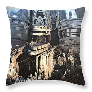 Carved From A Mountain Throw Pillow