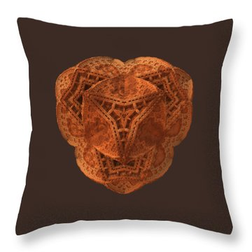 Throw Pillow featuring the digital art Carved by Lyle Hatch
