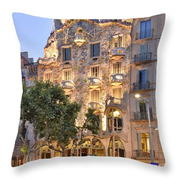 Casa Batllo Barcelona  Throw Pillow by Marek Stepan