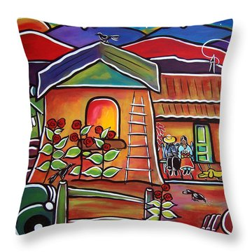 Casa De Abeulos Throw Pillow