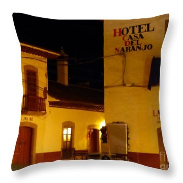 Casa Del Naranjo Throw Pillow