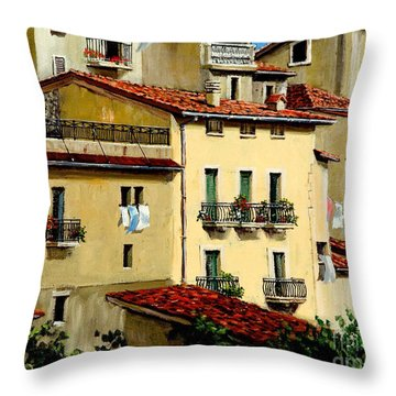 Throw Pillow featuring the painting Casa Del Sol by Michael Swanson