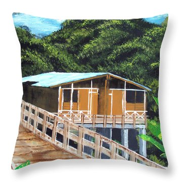 Casa Grande Throw Pillow by Luis F Rodriguez