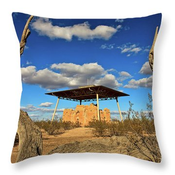 Casa Grande Ruins National Monument Throw Pillow