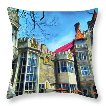 Casa Loma Series 2 Painted Y1 Throw Pillow