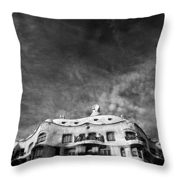 Casa Mila Throw Pillow by Dave Bowman