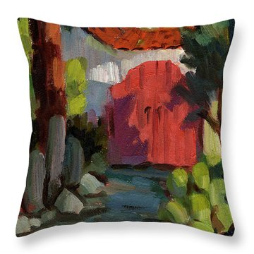 Casa Tecate Gate Throw Pillow by Diane McClary