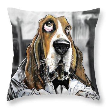 Casablanca Basset Hound Caricature Art Print Throw Pillow