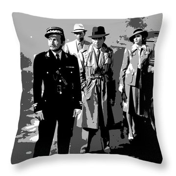 Throw Pillow featuring the mixed media Casablanca by Charles Shoup