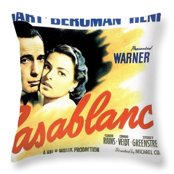 Casablanca Throw Pillow by Movie Poster Prints