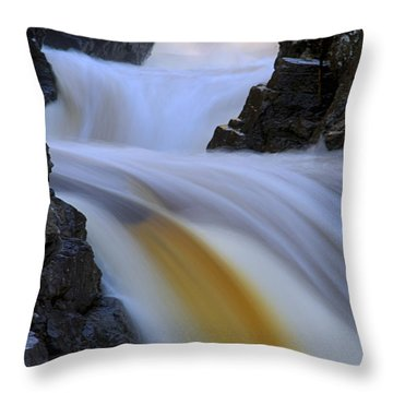 Cascade At Dawn Throw Pillow