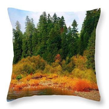 Cascade Autumn Throw Pillow