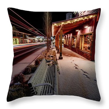 Throw Pillow featuring the photograph Cascade Avenue by Cat Connor