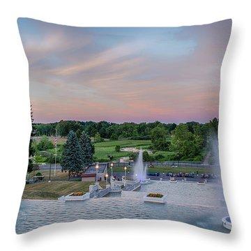 Cascade Falls Jackson Mi 2 Throw Pillow