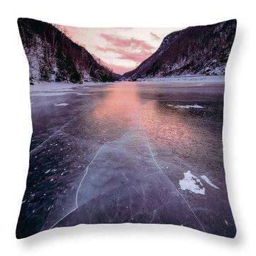 Cascade Ice Throw Pillow