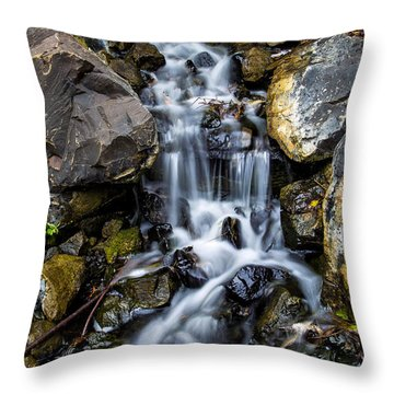 Throw Pillow featuring the photograph Cascade by Keith Hawley