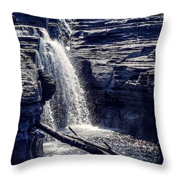 Throw Pillow featuring the photograph Cascade by Kendall McKernon