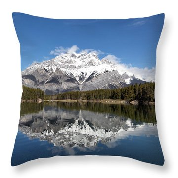 Cascade Mountain Throw Pillow