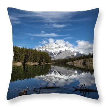 Cascade Mountain Reflections Throw Pillow