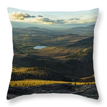 Cascade Mountain Sunset Throw Pillow