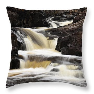 Throw Pillow featuring the photograph Cascade On The Two Island River by Larry Ricker