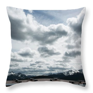 Throw Pillow featuring the photograph Cascade Outlook Manning Provincial Park by Elvira Butler