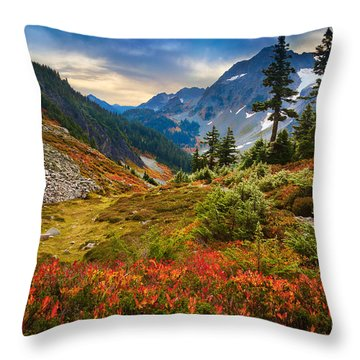 Cascade Pass Fall Throw Pillow
