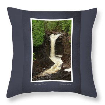 Throw Pillow featuring the photograph Cascade River Scrapbook Page by Heidi Hermes