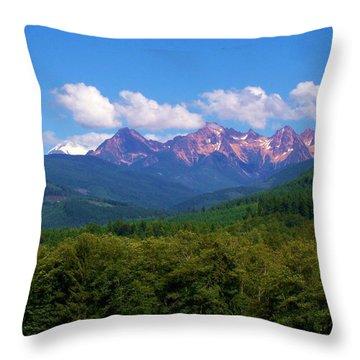 Cascade Sisters Throw Pillow