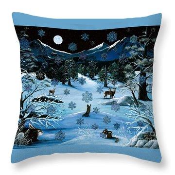 Cascade Snowflake Throw Pillow