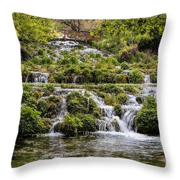 Cascade Springs Utah Throw Pillow