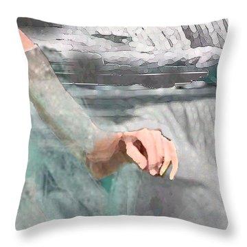 Throw Pillow featuring the digital art Cascade by Steve Karol