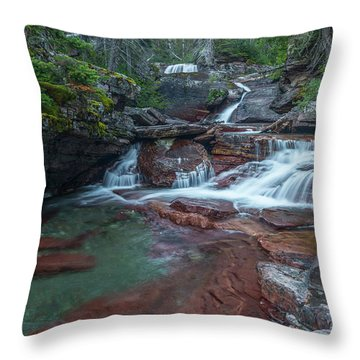 Throw Pillow featuring the photograph Cascades by Gary Lengyel