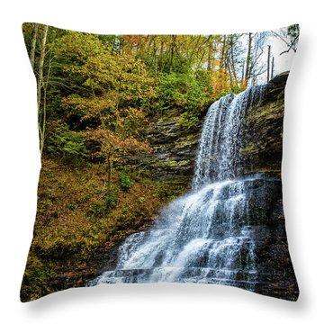 Cascades Lower Falls Throw Pillow