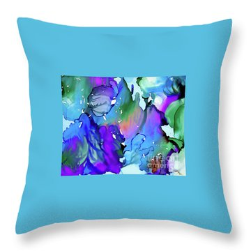 Throw Pillow featuring the painting Cascades by Yolanda Koh