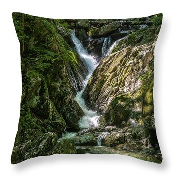 Throw Pillow featuring the photograph Cascading Beauty by Lara Ellis