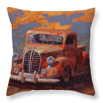 Cascading Color Throw Pillow