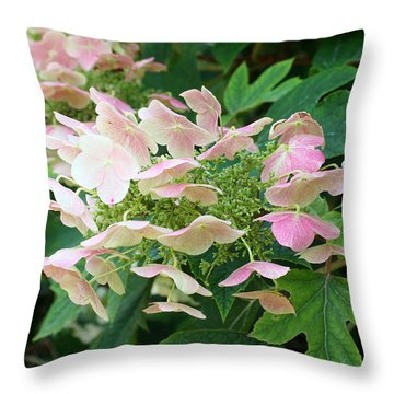 Throw Pillow featuring the photograph Cascading  by Ellen Tully